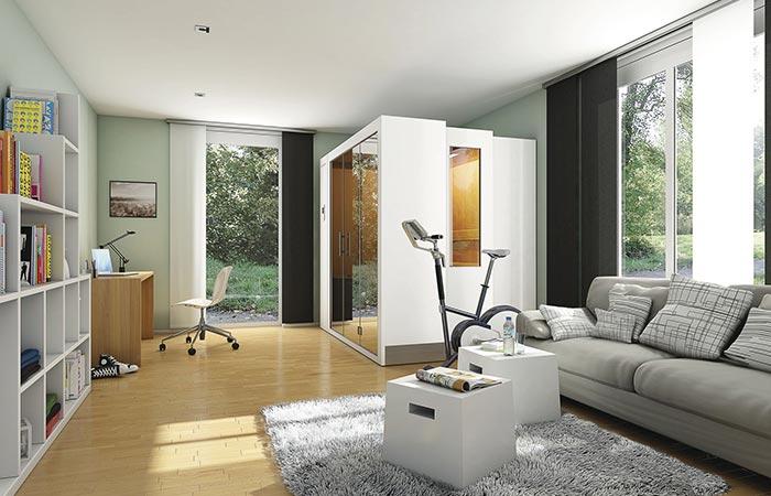 White Sauna S1 In A Room