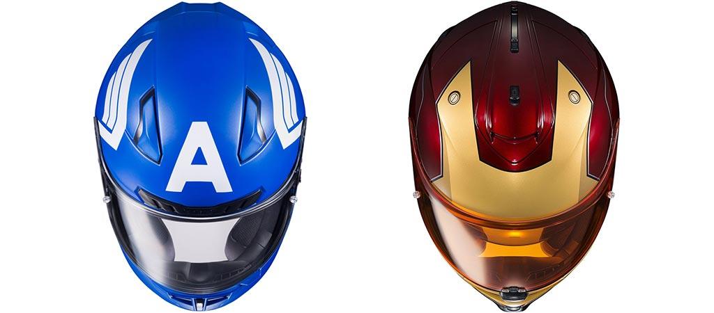 Team Captain America Or Team Iron Man   Collaboration Motorcycle Helmets