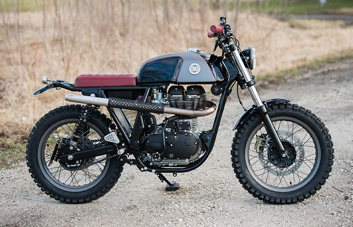 The Royal Enfield From The Side