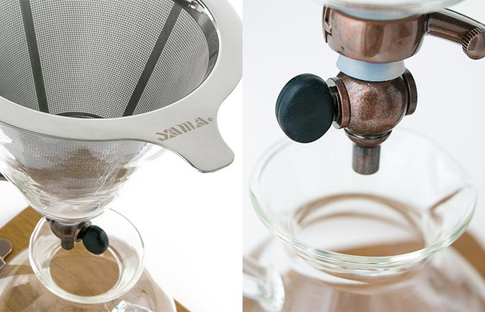 Yama Silverton Coffee Dripper Metal Filter And Valve