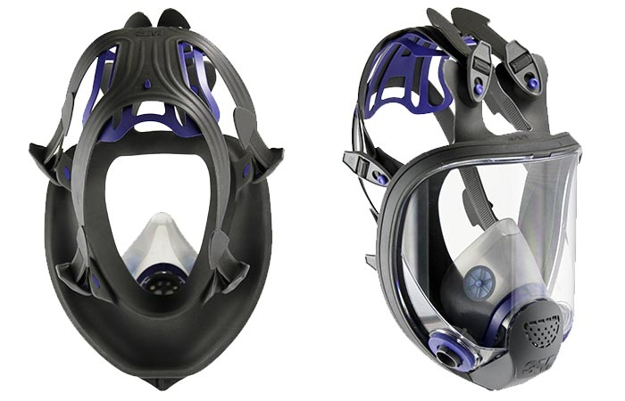 Two Angles Of 3M Ultimate FX Full Facepiece Reusable Respirator