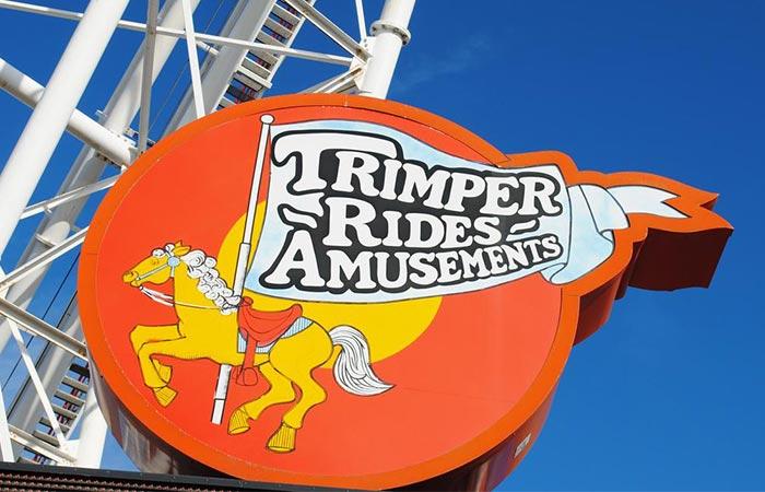 Trimper's Rides and Amusements Sign