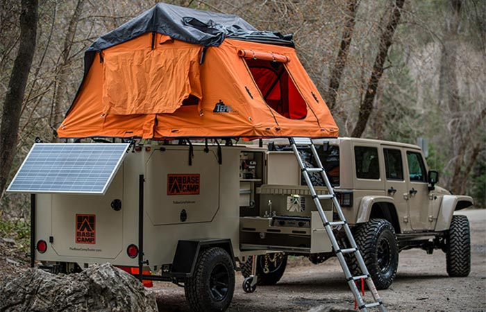 Roof Tent On Base Camp Trailer