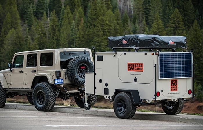 Transporting Base Camp Trailer