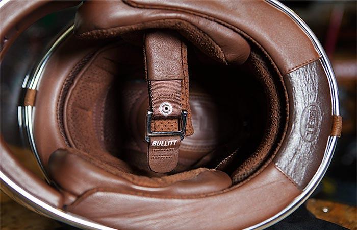 Inside view of Bell Bullitt Carbon helmet