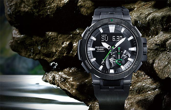 Casio Pro Trek PRW-7000 From The Front