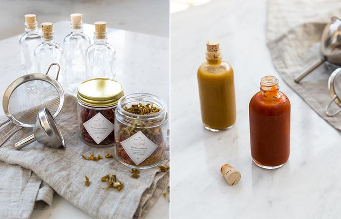 Homemade Hot Sauce Kit includes the two blends, four glass hot sauce ...