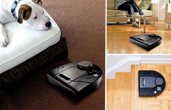 Three Images Of Neato XV Signature Pro Pet And Allergy Robot Vacuum Cleaner