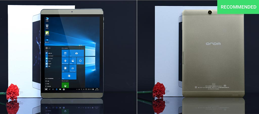 The Onda V919 Air Tablet front and back view
