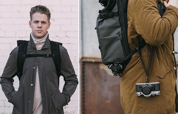 Two Guys Wearing PRVKE Travel and DSLR Camera Backpack