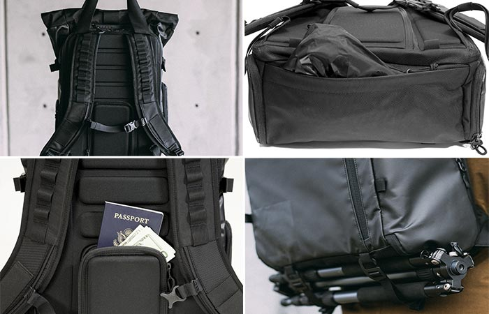 Four Different Features Of PRVKE Travel and DSLR Camera Backpack