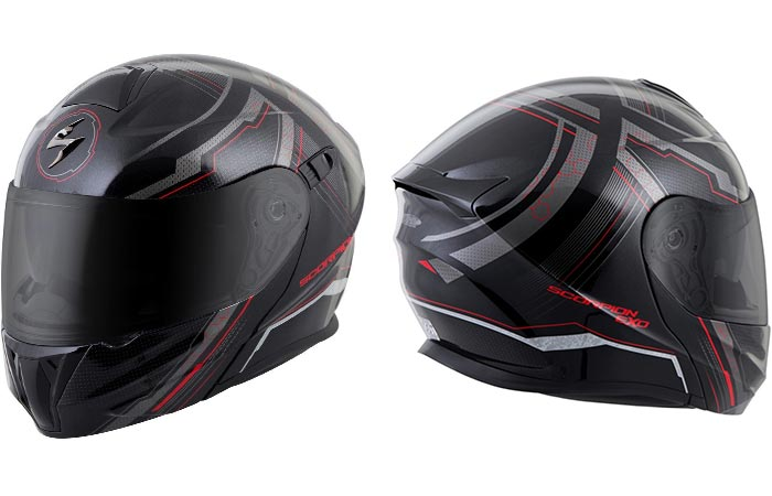 The Scorpion EXO-GT920 front and back view