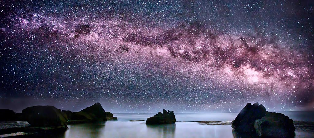 Milky way Galaxy from earth