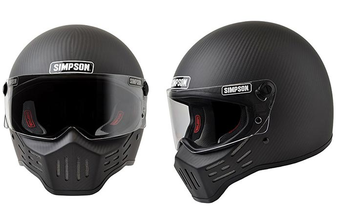 Simpson M30 Bandit Carbon helmet with white background