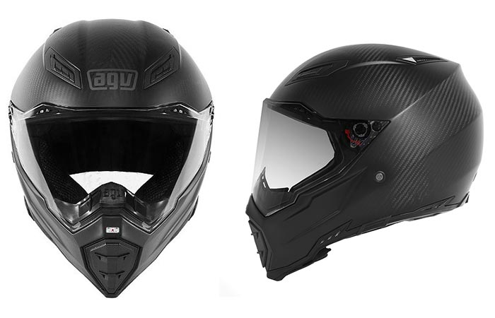 AGV AX-8 Evo Naked Carbon Helmet with white background