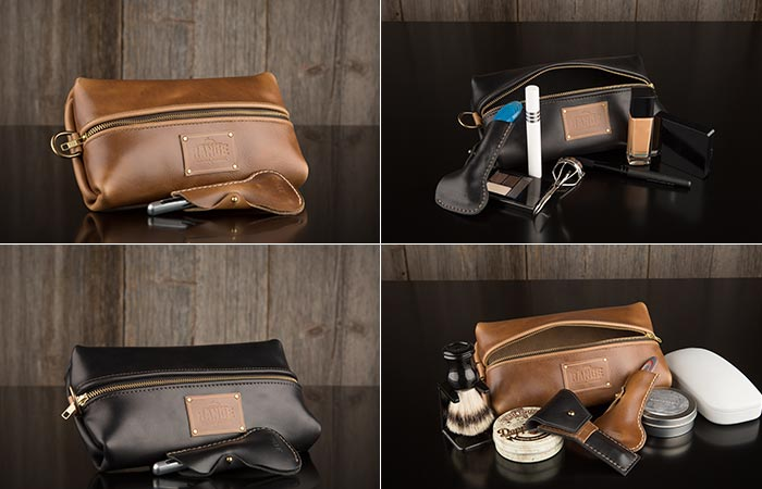 The Travellr kit being used as a make-up bag and as a toiletry bag.