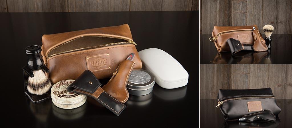 The Travellr Kit shown with Razor Cases and in two different colors.