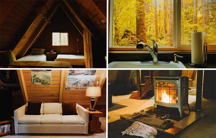 Tye haus a frame cabin cottage for rent in skykomish for A frame cabin interior