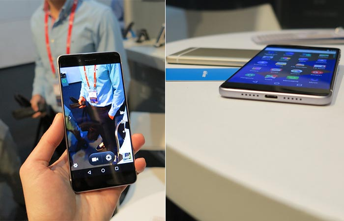 The Ulefone Future laying on a table and showing the picture quality.