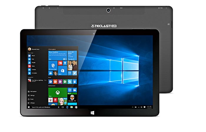 Front and backview of Teclast Tbook 11