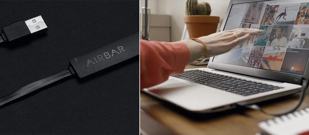 AirBar by itself and somebody using it