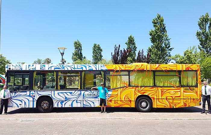 Astro Bus Art In Portugal