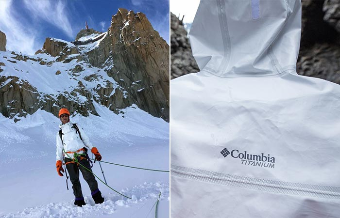Two Images Of Columbia Outdry Extreme Eco Rain Jacket