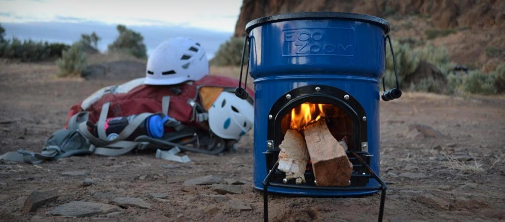EcoZoom Dura Rocket Stove being used at the beach