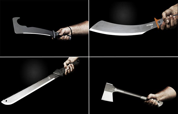 Gerber Zombie Apocalypse Survival Kit Machetes And An Axe