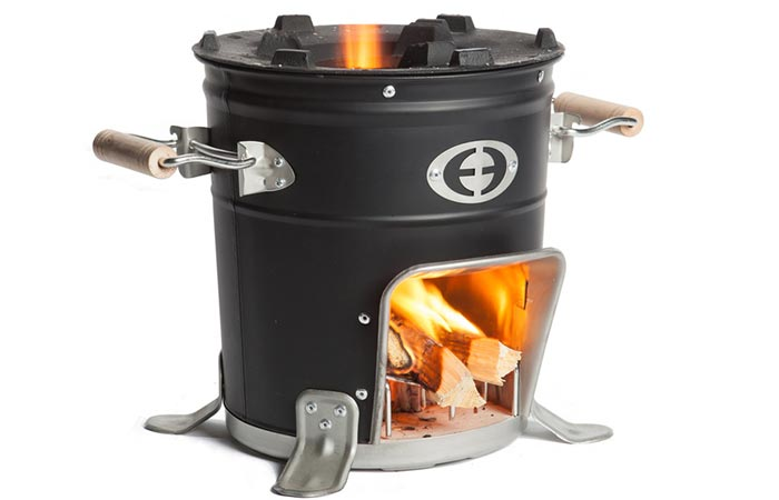 M-5000 Envirofit Rocket Stove with white background