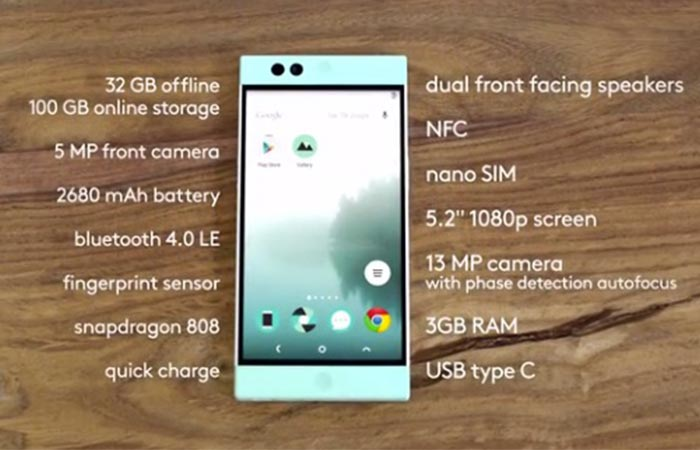 The features of the Nextbit Robin