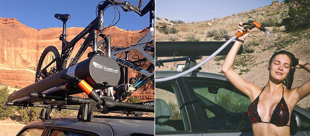 Portable Solar Road Shower