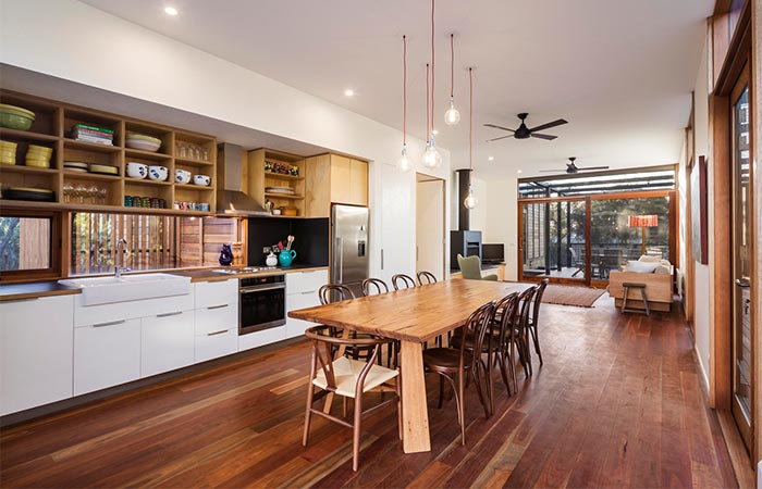 Kitchen And Dining Area At Light House
