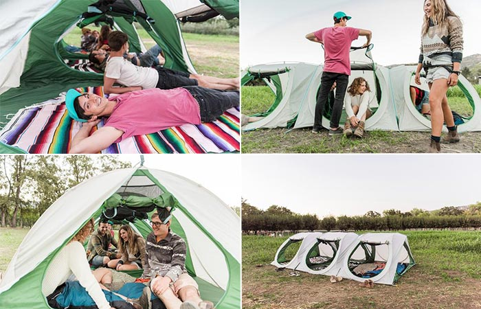 Four Images Of The Sierra Shack Tent
