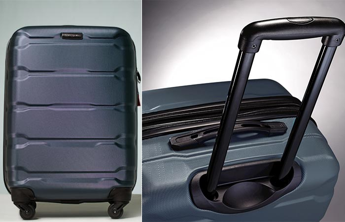 Different views of the Samsonite Omni PC Hardcase Spinner