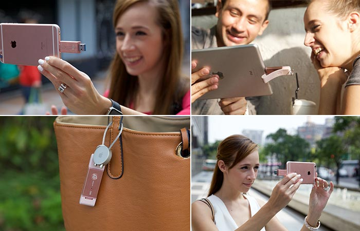 iKlips DUO being used in different scenes with different devices