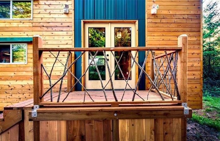 Basecamp Tiny Homes Wooden Deck