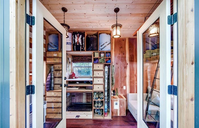 Basecamp Tiny Homes Storage Spaces