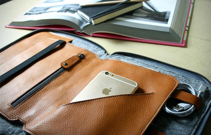 iPhone Placed Inside Byron's Travel Insert