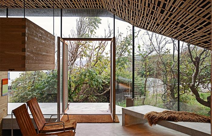 Cabin Knapphullet Living Area