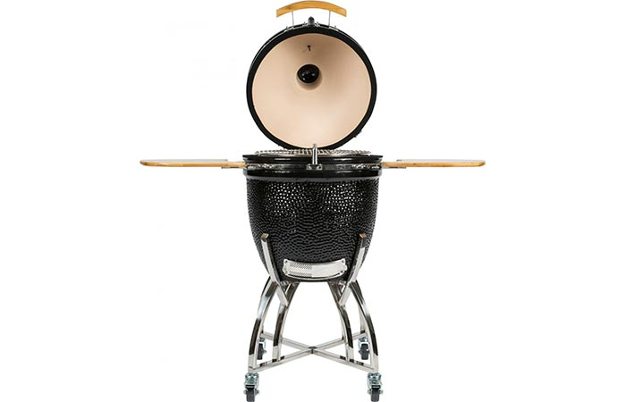 Coyote Asado Freestanding Ceramic Grill Opened