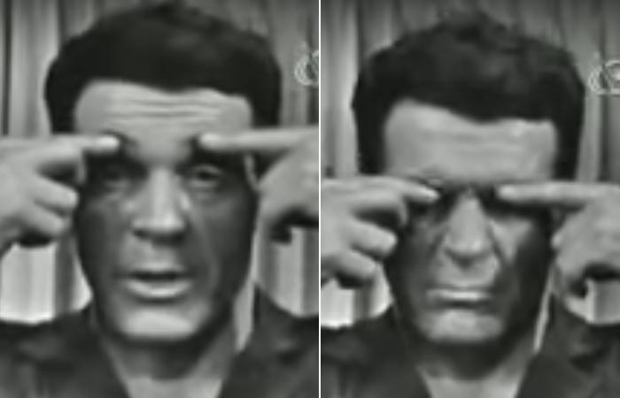 Jack Lalanne Doing brow scrunch