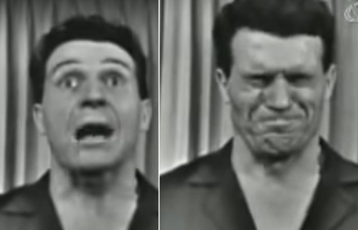 Jack Lalanne doing full face scrunch