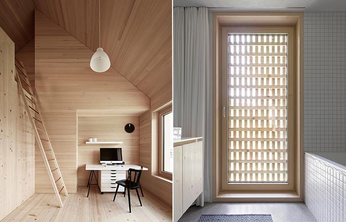 Julia & Bjorn House Study and Bathroom Door