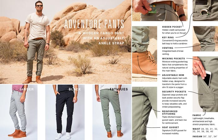 Adventure Pants and features