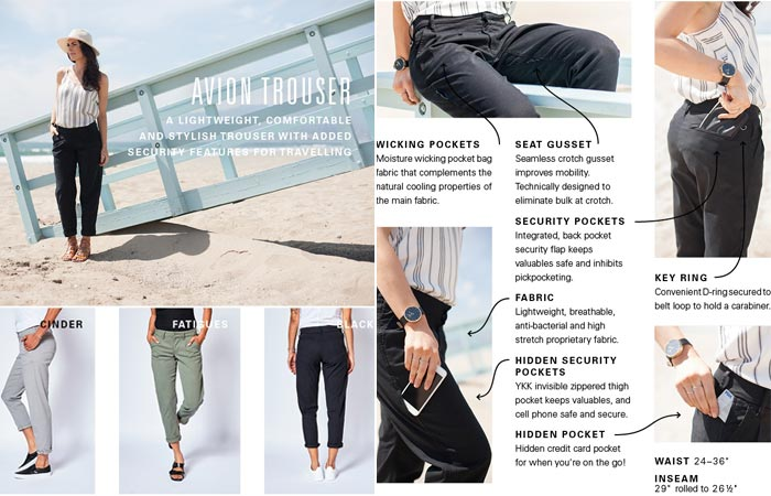 Avion Trousers and Features