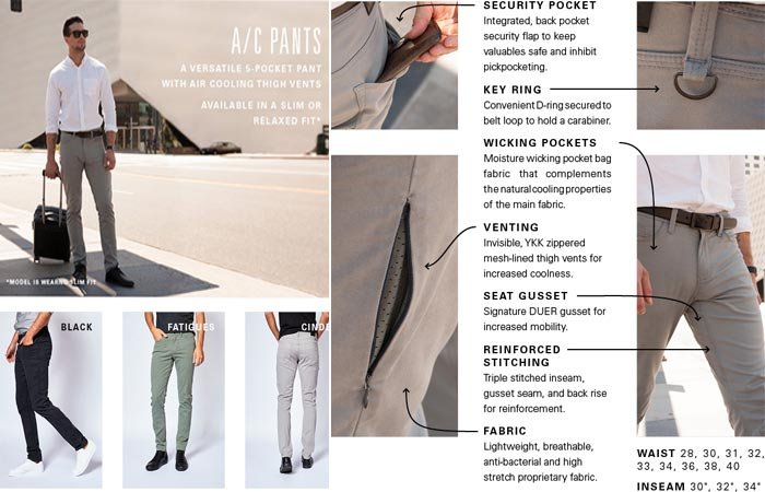 A/C Pants and features