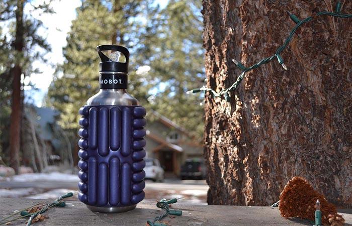 Blue Mobot Water Bottle & Roller