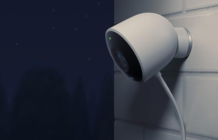 The Nest Cam outdoor at night
