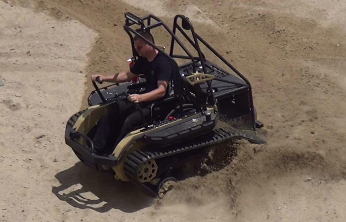 Man using the Ripchair 3.0 in sand dunes